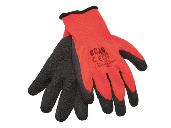 Scan Orange/Black Knitshell Thermal Gloves (Pack 5) - XMS19GLATEX