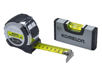 PowerBlade II Pocket Tape 5m/16ft (Width 27mm) with Mini Level -