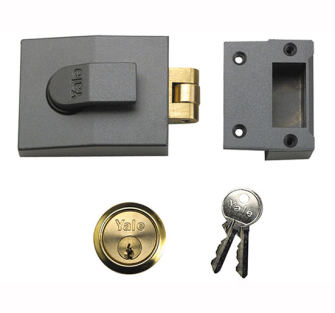Yale Locks 81 Rollerbolt Nightlatch DMG Brass Cylinder 60mm Backs