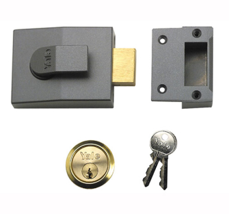 Yale Locks 82 Deadbolt Nightlatch DMG Brass Cylinder 60mm Backset