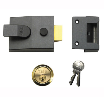 Yale Locks 91 Basic Nightlatch DMG Brass Cylinder 60mm Backset Bo