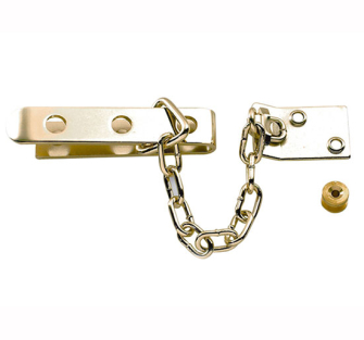 Yale Locks P1040 High Security Door Chains - Brass Finish