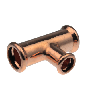 Pegler XPress S25 Copper Reduced Tee Branch  (M-Press) - Size Options